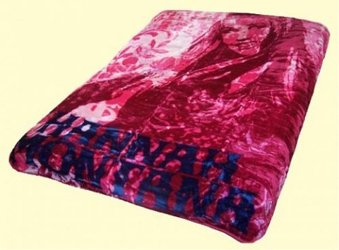 Twin Hannah Montana Girls Rock Mink Blanket
