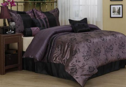 Harmonee 7PC Comforter Set Purple