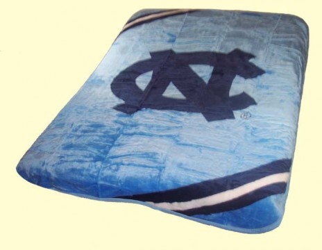 Twin NCAA North Carolina Mink Blanket