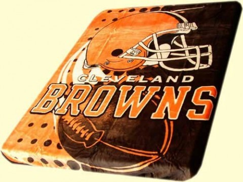Twin NFL Browns Mink Blanket