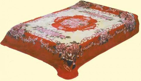 Solaron Two-Ply Floral Mink Blanket