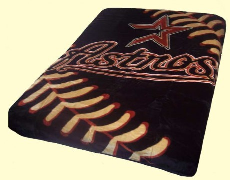 Twin MLB Houston Astros Mink Blanket