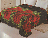 Solaron King 3D Black Roses Flannel Blanket